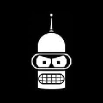Bender Face Futurama Vinyl Decal Sticker|Cars Trucks Vans Walls Laptops Cups|White|5.5 In|KCD837