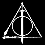 Deathly Hallows LOTR Decal Vinyl Sticker|Cars Trucks Vans Walls Laptop| White |5.5 x 5 in|LLI11