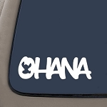 CMI Lilo and Stitch Inspired Ohana Family Decal Sticker (White, 7