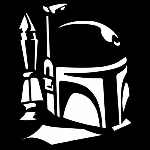 CCI Boba Fett Profile Decal Vinyl Sticker|Cars Trucks Vans Walls Laptop| White |5.5 x 4.5 in|CCI553