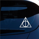 Geekery Deathly Hallows Inspired Decal Sticker for Car Window, Laptop and More. # 467 (4