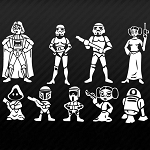 SW Family Imperial Storm Trooper Leia R2-D2 Family Car Decal Automotive Vinyl Sticker 8