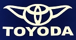 Toyoda Yoda Vinyl Car Decal Sticker White 5