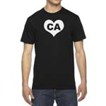 Men's California CA Heart State T-Shirt