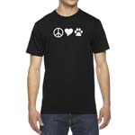 Men's Peace, Love, Dogs T-Shirt