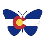 Colorado Butterfly Sticker
