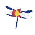 Colorado Dragonfly Sticker
