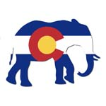 Colorado Elephant Sticker