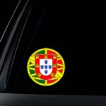 Portuguese Flag Seal Car Decal / Sticker