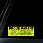 Proud Parent Car Decal / Sticker