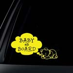 Bear Baby on Board Car Decal / Sticker