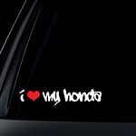 I Love My HONDA w/ RED Heart Car Decal / Sticker - GRAFFITI Style