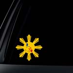 Philippine Flag Sun Star Island Car Decal / Stickers