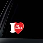 I Love My Marine Car Decal / Sticker
