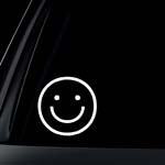 Smile Face Car Decal / Sticker