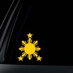 Philippine Flag Sun Car Decal / Sticker