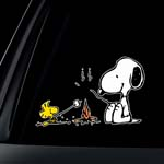 Snoopy Campfire Apple Macbook Laptop Decal / Sticker