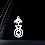 Captain America with Shield Marvel Avengers Car Decal / Sticker