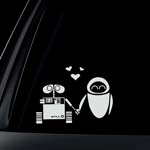 DISNEY Black Decal WALL E EVE ROBOT LOVE Window Sticker
