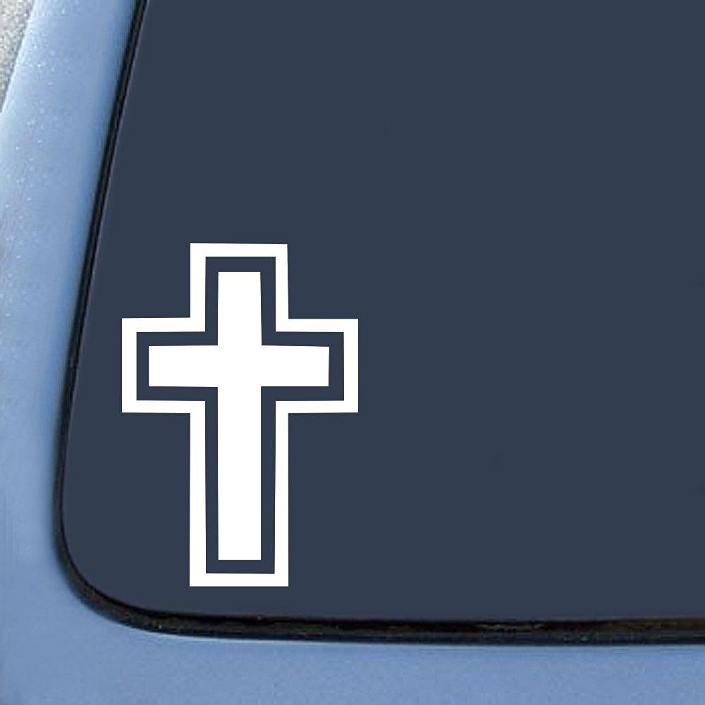 Christian Cross Sticker Decal Notebook Car Laptop