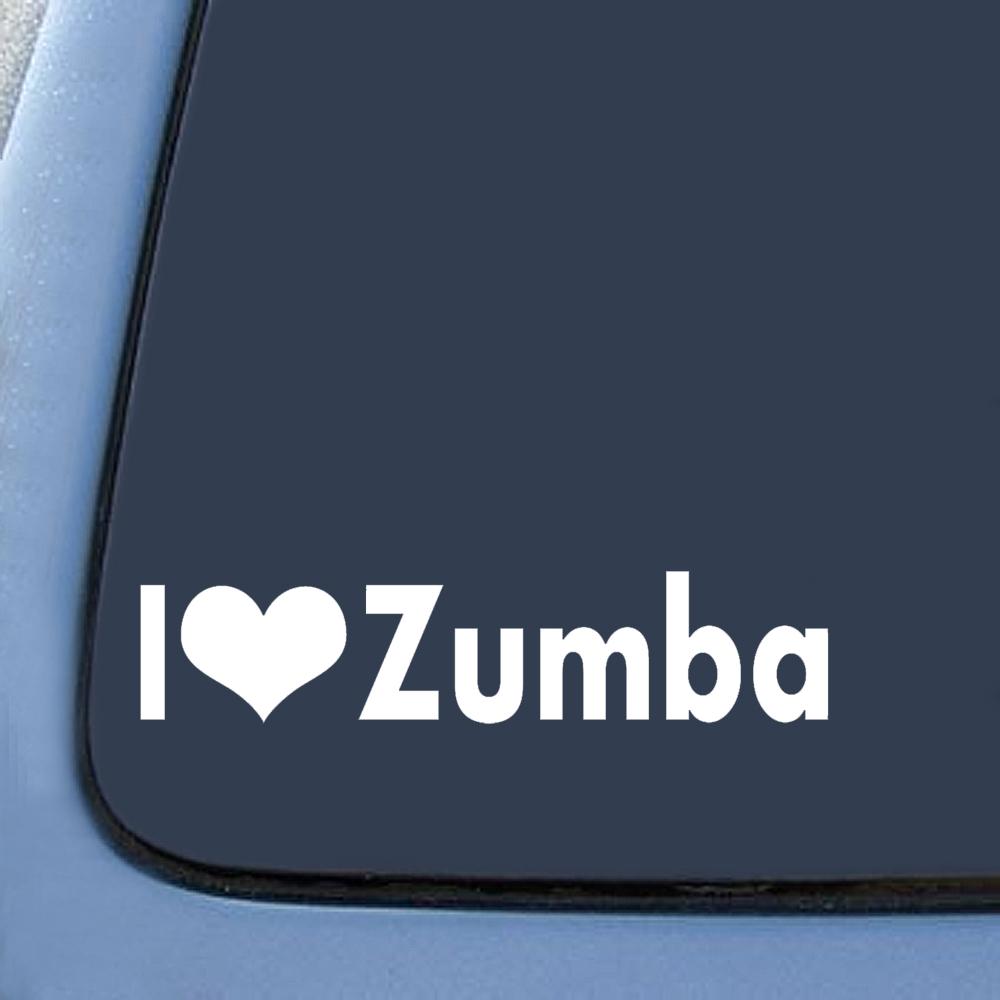 I love zumba sticker decal notebook car laptop