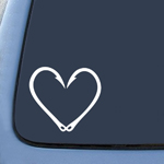 Fishing Hook Heart Love Sticker Decal Notebook Car Laptop