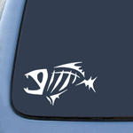 Fish Bones Fear No Sticker Decal Notebook Car Laptop