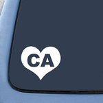 California CA Heart State Sticker Decal Notebook Car Laptop