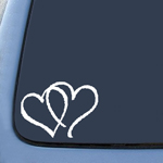 Hearts Sticker Decal Notebook Car Laptop