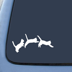 Jumping Cats Kittens Love Sticker Decal Notebook Car Laptop