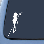 Sailor Saturn White Sticker Decal Notebook Car Laptop