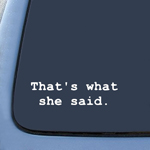 That's What She Said - Office Sticker Decal Notebook Car Laptop