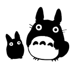 Totoro Black Decal Studio Sticker Decal Notebook Car Laptop