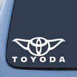 Toyoda Yoda Sticker Decal Notebook Car Laptop