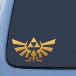 Triforce Logo Wings  Gold Sticker Decal Notebook Car Laptop