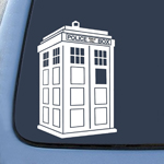 Whovian Police Box Tardis Sticker Decal Notebook Car Laptop