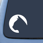 Cat Circle Silhouette Sticker Decal Notebook Car Laptop