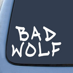 Bad Wolf Graffiti DW Whovian Sticker Decal Notebook Car Laptop