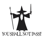 You Shall Not Pass! - Gandalf LOTR Sticker Decal Notebook Car Laptop