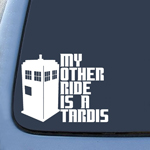 My Other Ride is a Tardis Sticker Decal Notebook Car Laptop