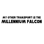 My Other Transport is the Millennium Falcon Sticker Decal Notebook Car Laptop