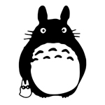 Totoro Black Ghibli Laputa JDM Anime Sticker Decal Notebook Car Laptop