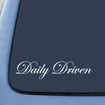 Daily Driven Sticker Decal Notebook Car Laptop