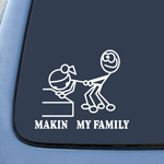 Making my Family Parody Funny Sticker Decal Notebook Car Laptop