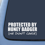 Honey Badger He Don't Care Funny Sticker Decal Notebook Car Laptop