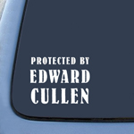 Protected by Edward Cullen Twlight New Moon Sticker Decal Notebook Car Laptop