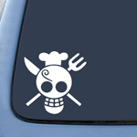 One Piece Sanji Flag Sticker Decal Notebook Car Laptop