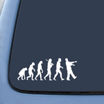 Zombie Evolution Sticker Decal Notebook Car Laptop