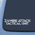 ZOMBIE ATTACK TACTICAL UNIT Sticker Decal Notebook Car Laptop