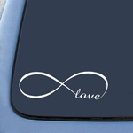 Infinity Love Sticker Decal Notebook Car Laptop